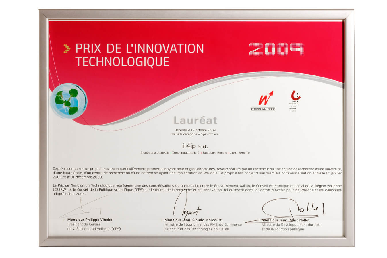Award for technological innovation