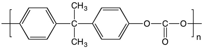 chemical formula of polycarbonate (PC)