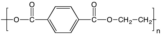 chemical formula of polyester (PET)